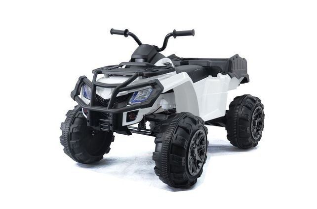 Полноприводный электроквадроцикл Grizzly Next Т009МР черный (резиновые колеса, кожаное кресло, пульт, музыка)