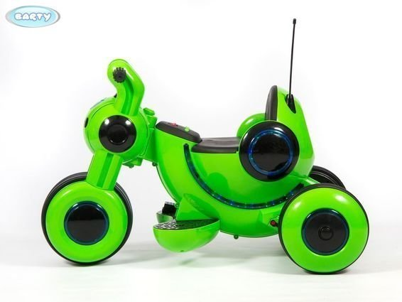 Детский электромотоцикл Y-MAXI YM77 зеленый (музыка, световые эффекты, мягкие колеса EVA)
