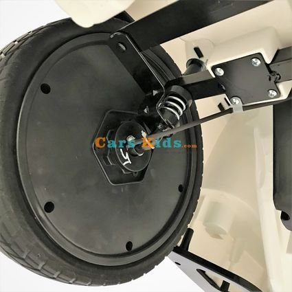 Электромобиль Range Rover Luxury A111AA VIP (SX118-S) белый (колеса резина, сиденье кожа, пульт, музыка)
